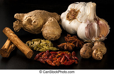 asian set of spices