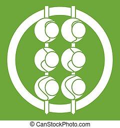 Asian shashlik icon green - Asian shashlik icon white...