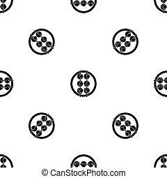 Asian shashlik pattern seamless black - Asian shashlik...
