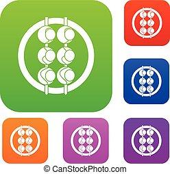 Asian shashlik set color collection - Asian shashlik set...