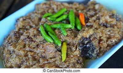Asian sizzling spicy minced pork