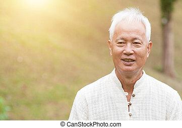 asian, starszy człowiek