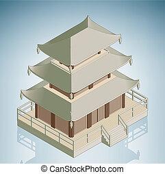asian, stupa