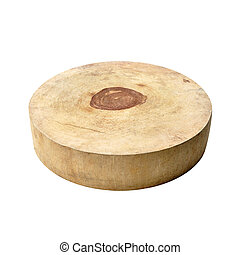 Asian style circle wood chopping block
