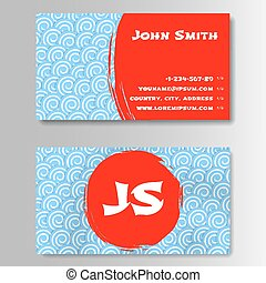 Asian style template business card