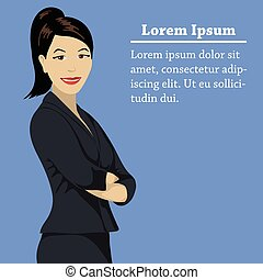 Asian success business woman concept