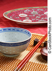 Asian tableware - Close-up view of asian tableware (bowl,...