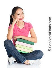 Asian teen student