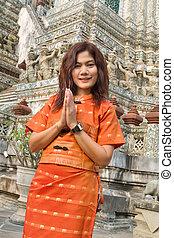 thai woman greetings - asian thai woman greetings sign in...