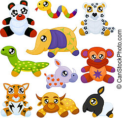 Asian toy animals - Set of asian toy animals (giant panda, ...