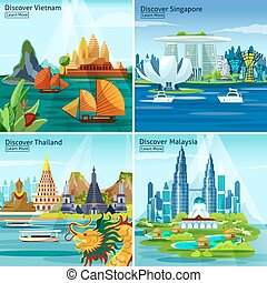 Asian Travel 2x2 Design Concept