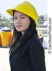 Asian Woman Civil Engineer