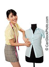 Asian Woman Dressmaker