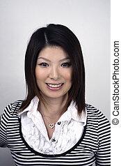 Asian woman in studio - Asian woman headshot