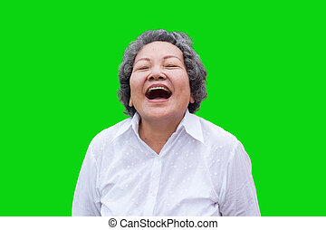 asian woman laugh with happy time
