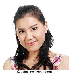 Asian woman smiling portrait