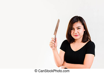 Woman with a Knife in her Hand