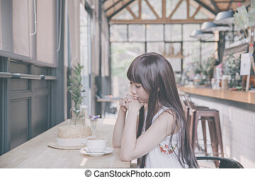 Asian Woman With Coffee