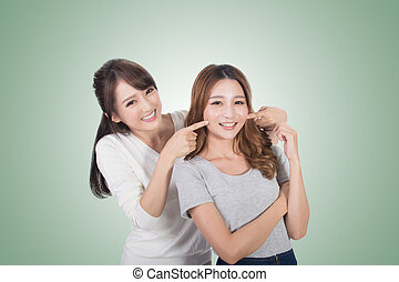 Asian woman with her friend