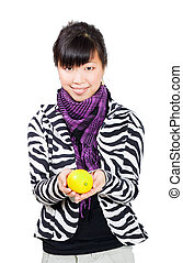 asian woman with lemon