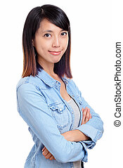 Asian woman with smile