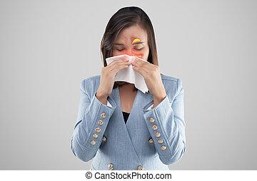 Asian women have sinusitis.