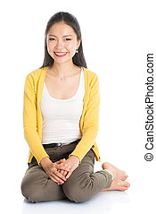 Asian young girl portrait