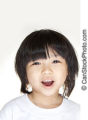 Asian young girl smiling