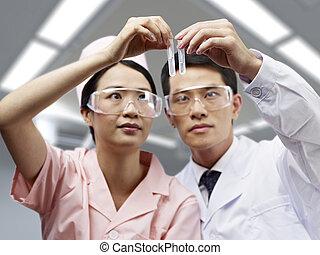 asiat, medicinske professionals, arbejde