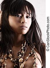 asiatico, bellezza