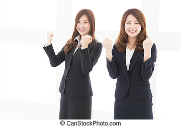 asiatico, donne affari, giovane