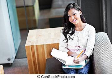 asiatico, studente, università