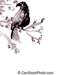 asiatico, uccello