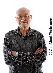 asiatico, uomo anziano