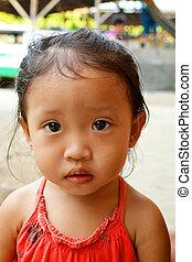 asiatique, innocent, enfant