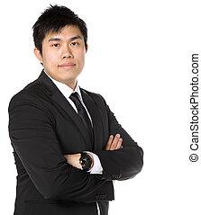 asiatique, jeune, homme affaires