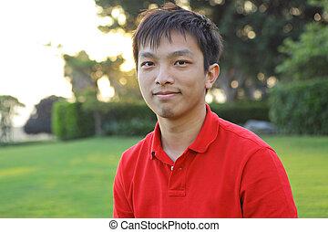 asiatique, jeune homme