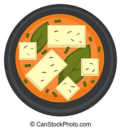 asiatique, soupe, cuisine, ramen, végétarien, ou, tofu