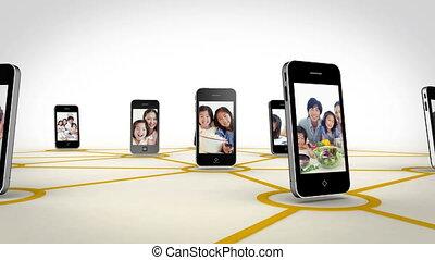asiatique, vidéos, famille