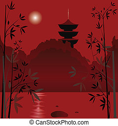 asiatisch, hintergrund