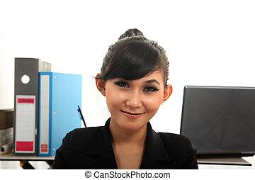 asiatisch, karrierefrau
