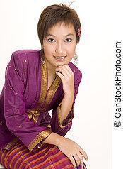 asiatisch, modell, 6