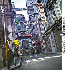 asiatisch, stadtzentrum