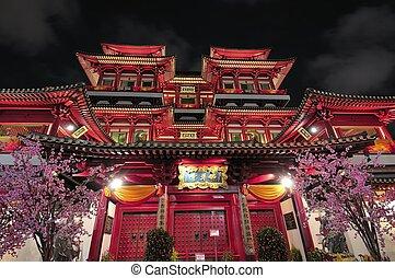 asiatisch, stil, buddhistischer tempel