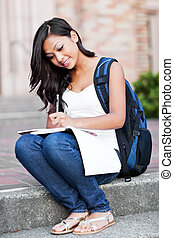 asiatisch, student