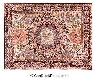 asiatisch, teppich, texture., klassisch, arabisches , muster