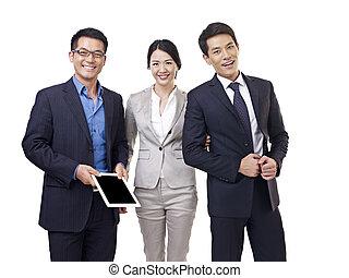 asiatisches geschäft, mannschaft