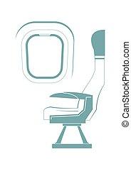 asiento, avión