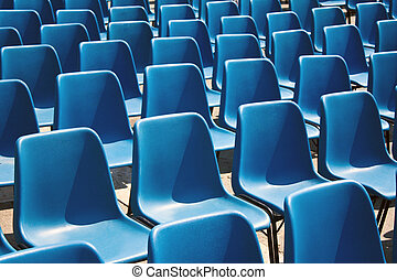 asientos, vacío, fila
