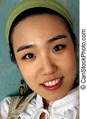 asijský postavit se obličejem k